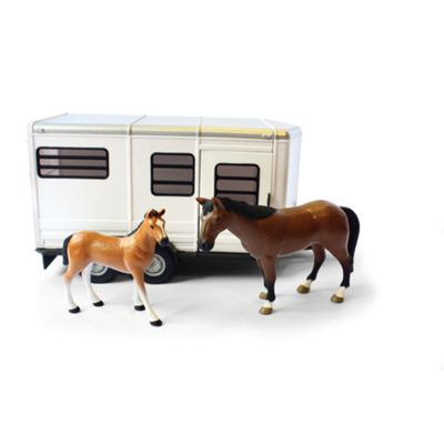 Britains Farm Big Farm Horse Trailer With Horse And Foal - . -