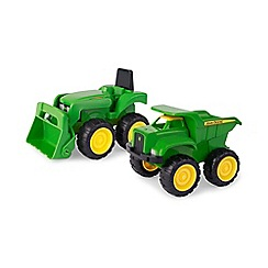 Britains Farm - John Deere Mini Sandbox Tractor And Dump Truck Set