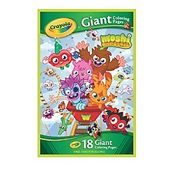 Crayola - Moshi Monsters Giant Colouring Pages