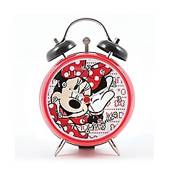 Minnie Mouse - Mini twin bell clock