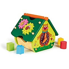 Little Helper - Oops Woodland Wonderland Wooden Activity House with shape sorter blocks