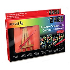 Reeves - Mini Rainbow Scraperfun  Gift Set