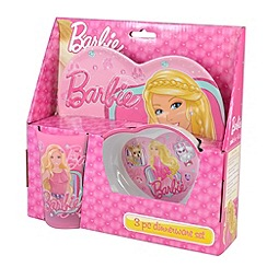 Barbie - Heart shaped 3 piece dinner set