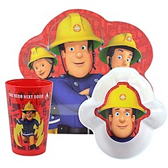 Fireman Sam - SHAPED 3PC DINNER SET