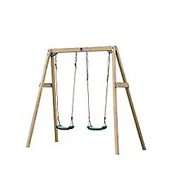 Plum - Wooden Double Swing Set