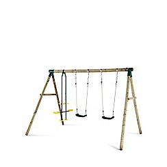 Plum - Colobus Wooden Garden Swing Set