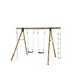Plum - Gibbon Wooden Garden Swing Set