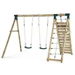 Plum - Uakari Wooden Garden Swing and Climbing Frame