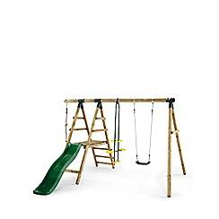 Plum - Meerkat Wooden Garden Swing Set and Climbing Frame