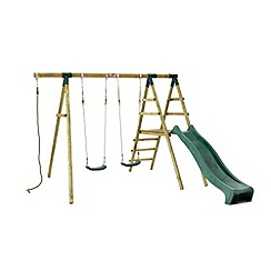 Plum - Giant Baboon Wooden Garden Swing Set and Climbing Frame