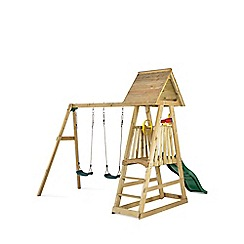 Plum - Indri Wooden Climbing Frame Outdoor Play Centre with Double Swings