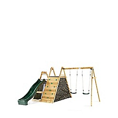 Plum - Climbing Pyramid Wooden Climbing Frame Outdoor Play Centre with swings