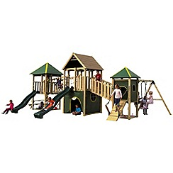 Plum - Wildebeest Large Wooden Climbing Frame Outdoor Play Centre