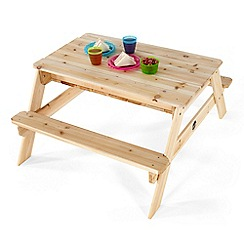 Plum - Outdoor Play Wooden Sand & Picnic Table