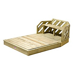 Plum - Premium Wooden Sand Pit and Bench