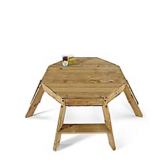 Plum - Premium Wooden Octagonal Activity Table