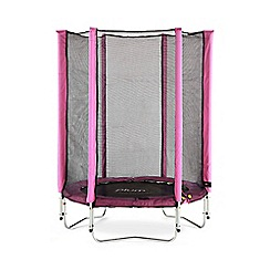 Plum - Junior Tampoline and Enclosure-Pink