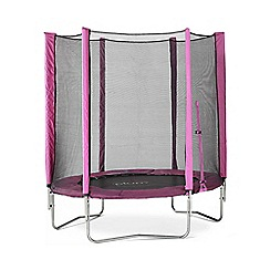 Plum - 6ft Trampoline and Enclosure-Pink