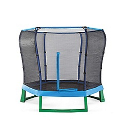 Plum - 7ft Blue/Green Jumper Trampoline and Enclosure