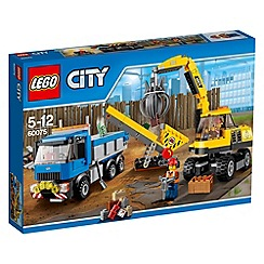 LEGO - City Demolition Excavator and Truck - 60075