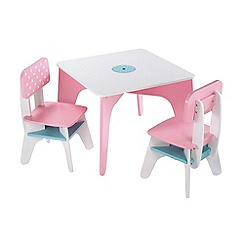 Early Learning Centre - Pink and white able and two chairs