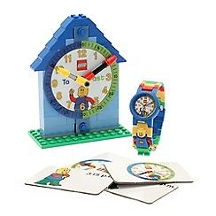 LEGO - Time Teacher Blue Kids' Minifigure Link Watch & Constructible Clock
