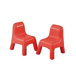 Early Learning Centre - Red plastic chairs