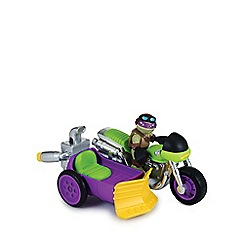 Teenage Mutant Ninja Turtles - Half-Shell Heroes Vehicle and Figure - Motorcycle and Sidecar with Donn