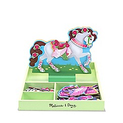 Melissa & Doug - Magnetic wooden dress-up doll - my horse clover