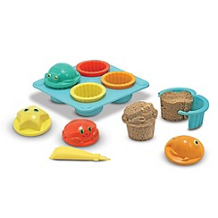 Melissa & Doug - Seaside sand cupcake set