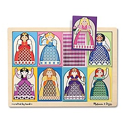 Melissa & Doug - Peek-through puzzle princesses