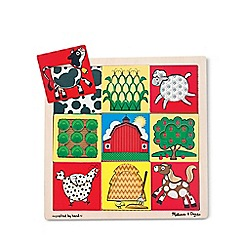 Melissa & Doug - Peek-through puzzle - farm