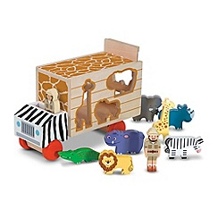 Melissa & Doug - Animal rescue shape-sorting truck