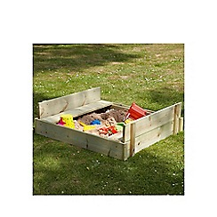 TP Active Fun - Wooden lidded sandpit