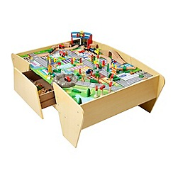 Plum - Train and Track Wooden Activity Table with Accessories