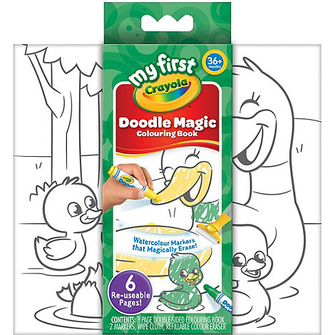 Crayola My First Doodle Magic Colouring Book At