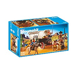 Playmobil - Covered Wagon with Raiders