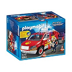 Playmobil - Fire Chief´s Car with Light and Sound