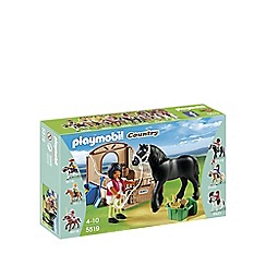Playmobil - Black Stallion with Stall