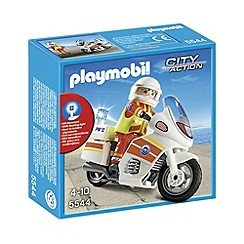 Playmobil - Emergency Motorcycle with Light