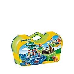 Playmobil - 1.2.3 Take Along Zoo & Aquarium