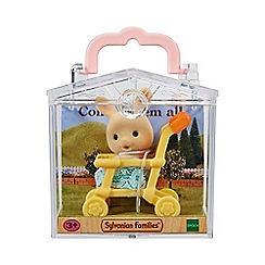 Sylvanian Families - Baby Carry Case (Rabbit on Pushchair)