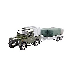 Britains Farm - Land Rover with trailer and 2 large green bales