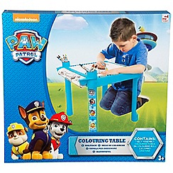 Paw Patrol - Colouring Table