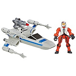 Star Wars - Hero Mashers Episode VII Resistance X-Wing and Resistance Pilot