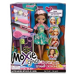 Moxie Girlz - Magic Hair Stamp Designer Doll - Monet