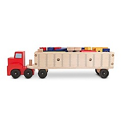 Melissa & Doug - Big truck building set wooden trucks