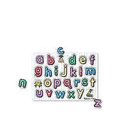 Melissa & Doug - See-inside english alphabet peg puzzle