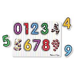 Melissa & Doug - See-inside numbers peg puzzle