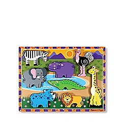 Melissa & Doug - Safari animals chunky puzzle